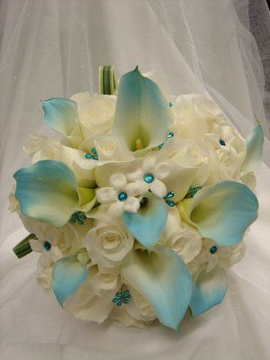 Tiffany Blue Wedding Flowers | Bridal Bouquet for Tiffany Blue wedding theme | Yelp