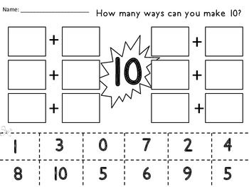 Making 10! Free review activity!