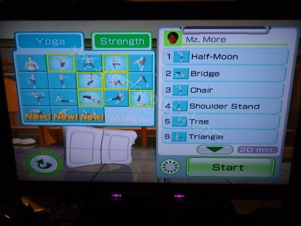 Wii Fit Plus Routine