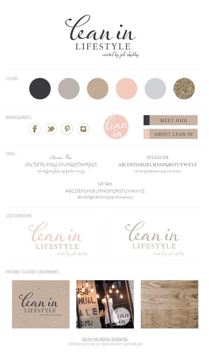 Lean-In-Lifestyle-Branding-Board-by-Salted-Ink #branding #saltedink #brand #logo