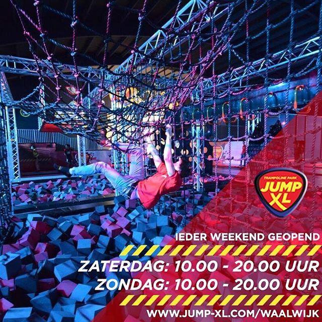 Wist je dat Jump XL Waalwijk ook in de weekenden is geopend?  Zaterdag van: 10.00 - 20.00 uur Zondag van: 10.00 - 20.00 uur  Reserveer wel je plekje, want vol is vol.  #jumpxl #jump #jumpxlwaalwijk #waalwijk #stunten #springen #gaaf #cool #weekend #trampo #trampolinepark #trampolines