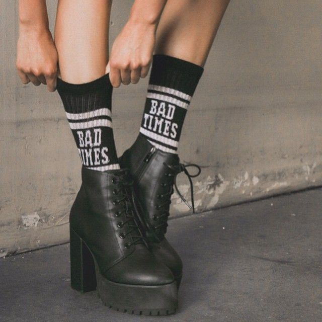 It's FRiDAY let the Bad Timez roll #Binx Boots: DollsKill.com/Binx