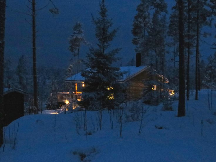 Villa Hevi, Blue Moment #winter #blue