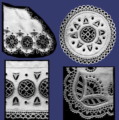 """Iva Rosa reproduções do vintage - Agulha Prático Journal # 52 c.1906 - dinamarquês Bordados """"Hedebo"""""""