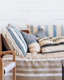 Striped Rug Pillows -   For porch.