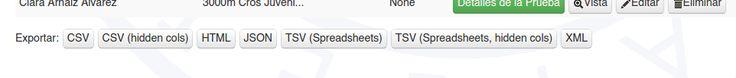 Exportar tablas en webapp