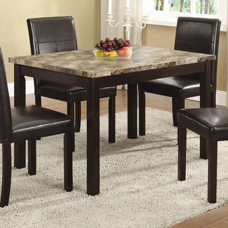 InRoom Designs Pointed Edge Dining Set