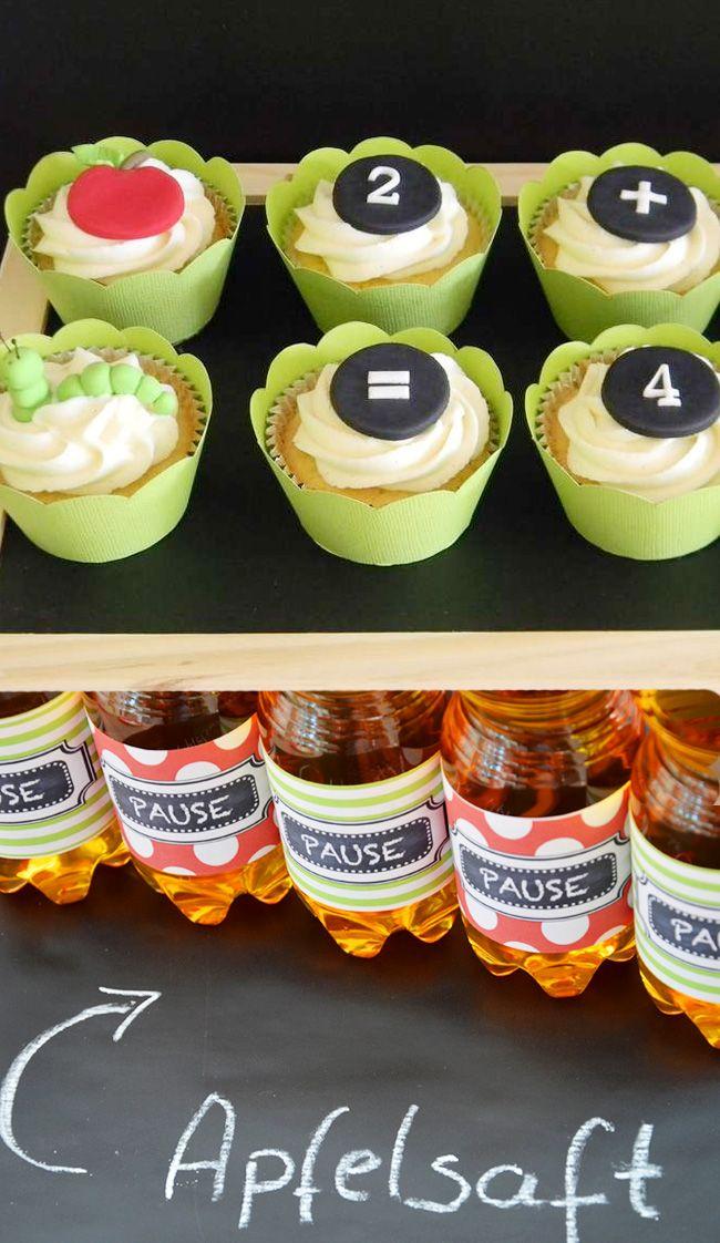 Cupcake Ideen zur Einschulung // #Einschulung #Schulanfang #Schulkind #partyideen