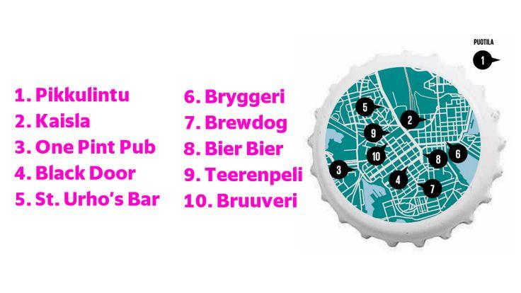 Helsinkiin on viime aikoina avattu useita uusia olutravintoloita. Nyt kokosi kartalle kiinnostavimmat tulokkaat ja vanhat suosikit.
