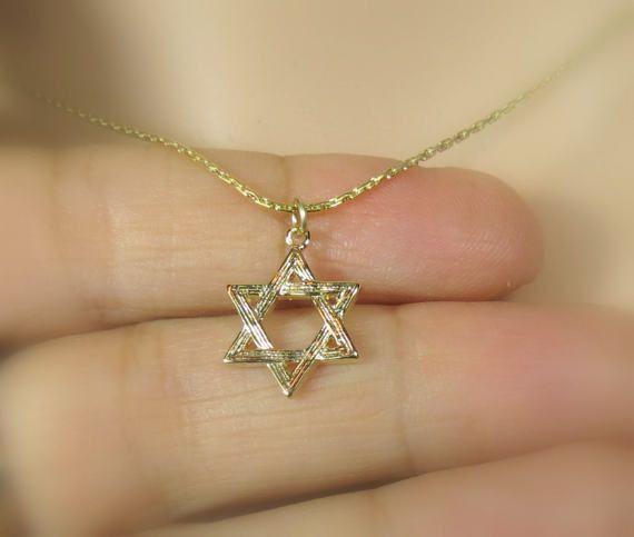 Star of David Necklace, Silver Star of David #jewelry #necklace @EtsyMktgTool http://etsy.me/2wGkQu9 #starofdavid #silverstarofdavid