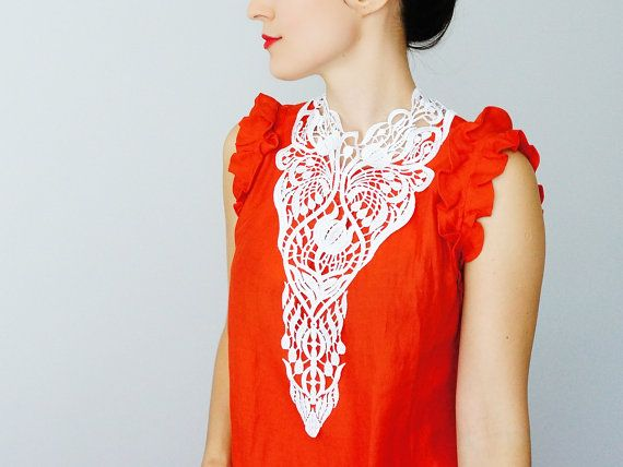Fiume // Venise Lace Necklace/ Lace Jewelry/  Gifts for by EPUU