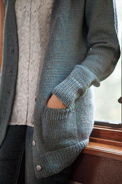 Boyfriend Cardigan - Knitting Patterns and Crochet Patterns from KnitPicks.com by Kerin Dimeler- Laurence