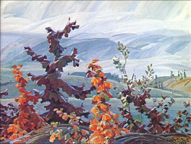 Franklin Carmichael - Red Maples and Scrub Oaks