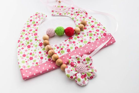 Morther Baby Gift Set Nursing Necklace and Matching by CasaDeGato, $30.00