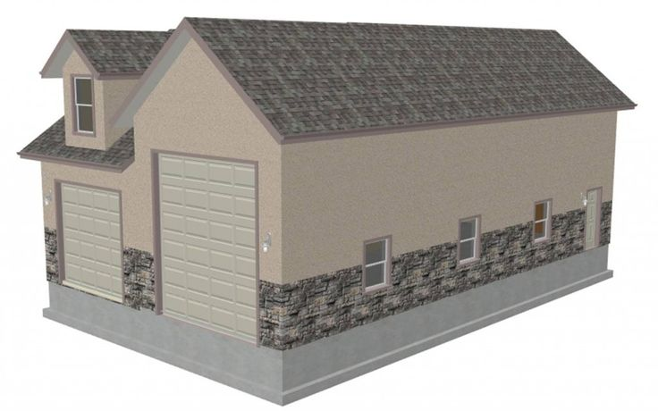 Looks too big but the other dormer window does help for Garages plans with living quarters