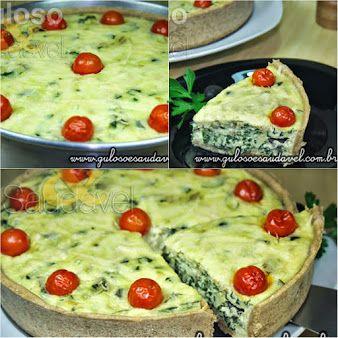 A dica de #almoço é incrivelmente deliciosa, fácil e muito nutritiva, é a Quiche de Bacalhau com Couve, todos vão amar!  #Receita aqui: http://www.gulosoesaudavel.com.br/2012/11/13/quiche-bacalhau-couve/