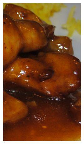 Kip gebakken in sinaasappel, mosterd, honing en soya.