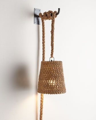 Nantucket Rope Sconce from Horchow.