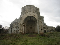The ancient ruins of the Monastery of S. Bruzio in Magliano in Toscana, Silver Coast, Maremma, Tuscany, Italy