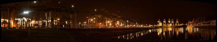 https://flic.kr/p/Sxppn4   Vincent Thomas Bridge San Pedro by night   Vincent Thomas Bridge San Pedro by night in Los Angeles - USA