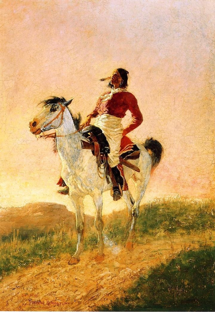 Image detail for -Frederic Remington Paintings - Frederic Remington Modern Comanche ...