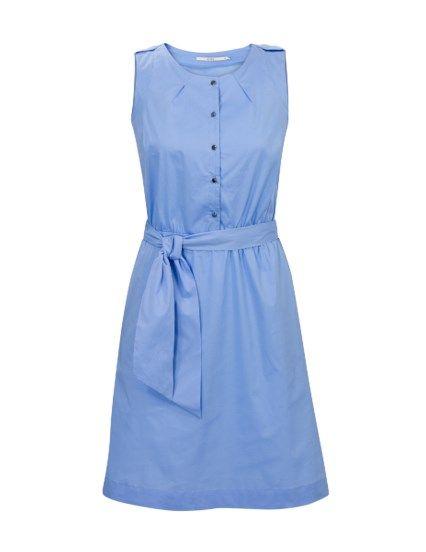 Casual jurk met knoopjes Blauw