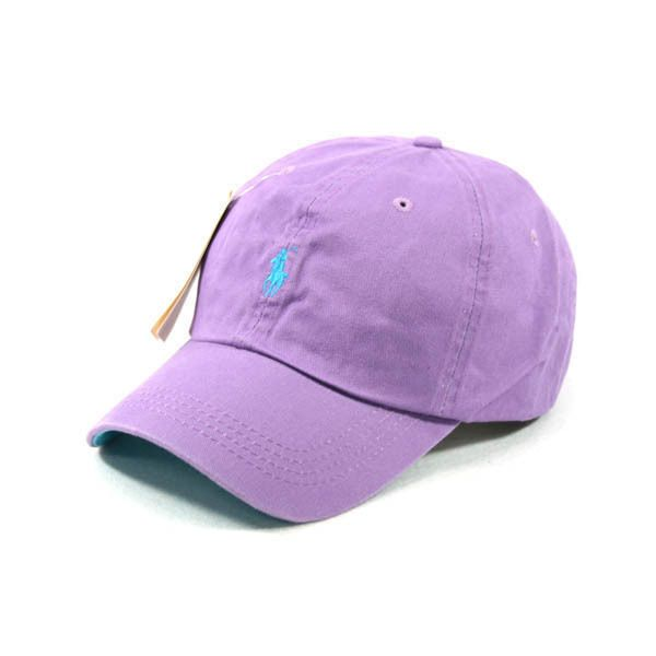 SP66 Light Purple Cap Small Light Blue Logo Polo Baseball Hat Tennis Outdoor New #CustomizedPersonalized #BaseballCap