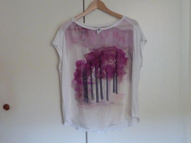handpainted silk blouse