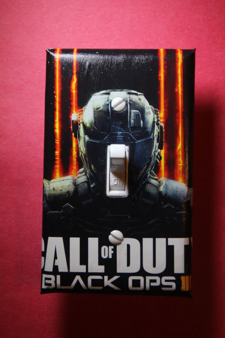 Call of Duty Black Ops III 3 Light Switch Plate Cover gamer room home decor comic book gaming Sony PS4 PS3 Xbox Nintendo Wii U by ComicRecycled on Etsy