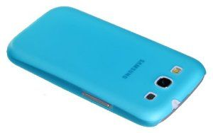 Frosted and thin transparent shell for Samsung Galaxy S3 I9300 (blue)