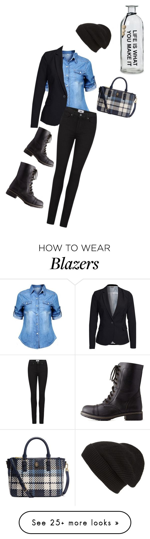 """""""Untitled #819"""" by sylviabunny on Polyvore featuring Vero Moda, Paige Denim, Phase 3, Charlotte Russe and Tory Burch"""