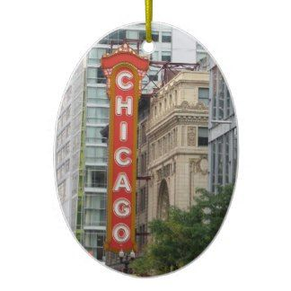 Chicago Christmas Ornament Sign