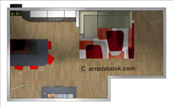 un #progetto per un open space in stile #urban #metropolitan semplice ma di effetto incantevole: a volte basta poco per personalizzare i nostri ambienti! #arredatrice  LEGGI L'ARTICOLO QUI>>> http://www.arredabook.it/progetti-arredabook/124-living-room-in-stile-metropolitano-progetti.html