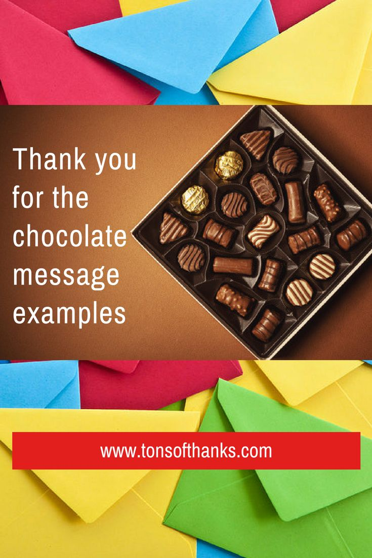 20 Thank you for the chocolate message