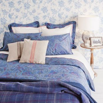 home furnishing site!  Multicoloured Paisley- Embroidered-Detail Bedding