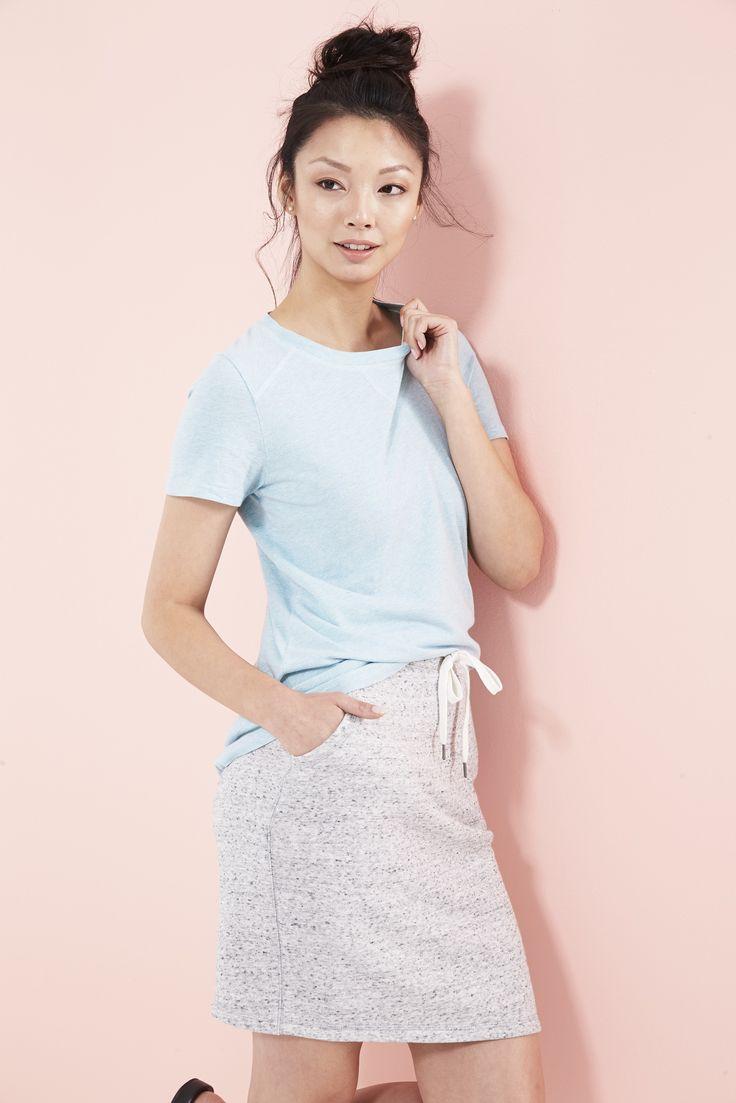 Cette jupe à  cordon en jersey deviendra votre nouvel essentiel pour la fin de semaine. #ModeABasPrix #ModePrintanière #Printemps2016 #Vêtements