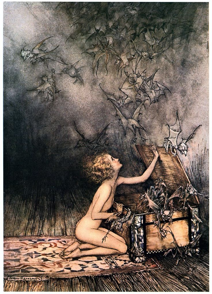 Arthur Rackham Fairy Illustrations hmmm Pandora's box - so beautiful - hope