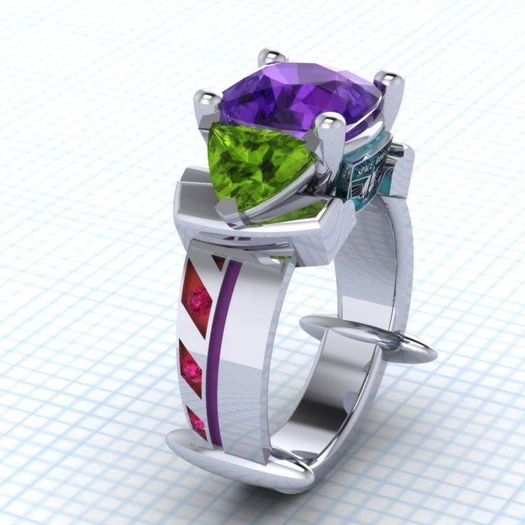 Buzz Lightyear inspired ring by Paul Michael Design http://www.paulmichaeldesign.com/