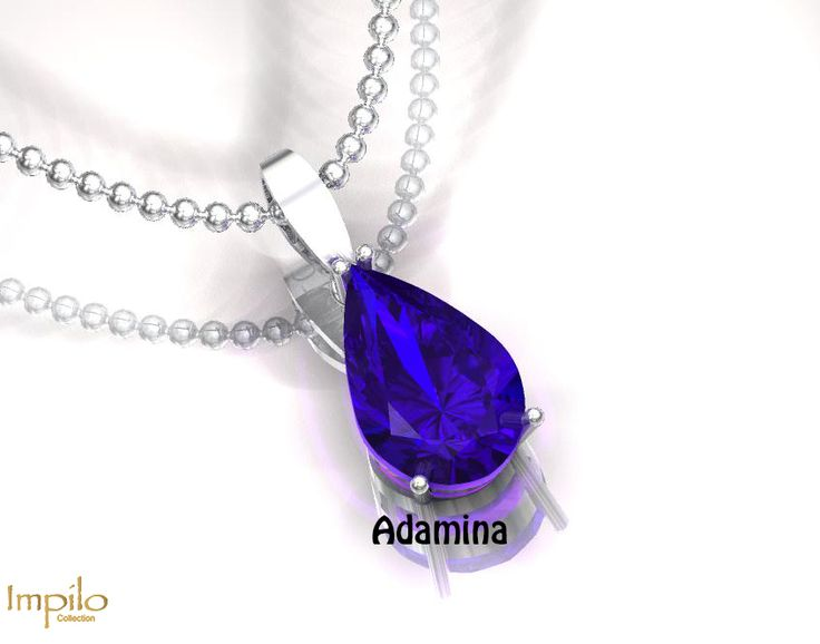 """""""Adamina"""" - This stunning blue sapphire gemstone in a four claw setting will be sure to catch your attention."""