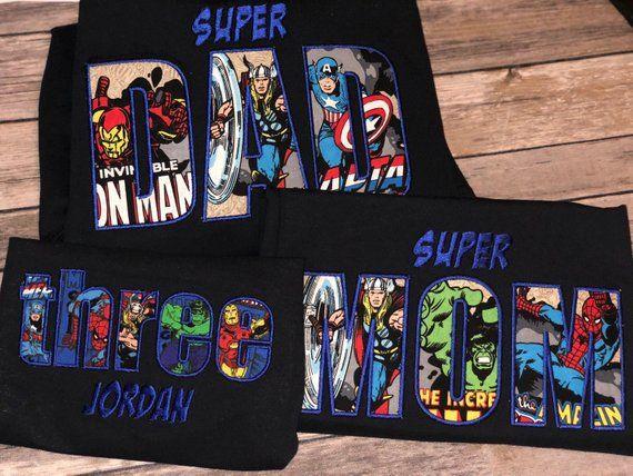 Superhero Shirt Superhero Birthday Shirt Avengers Birthday Shirt Avengers Tee