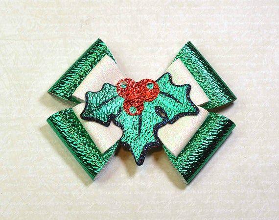 Bow SVG for cricut Hair bow svg template Holly Berry Bow template svg Christmas bow template