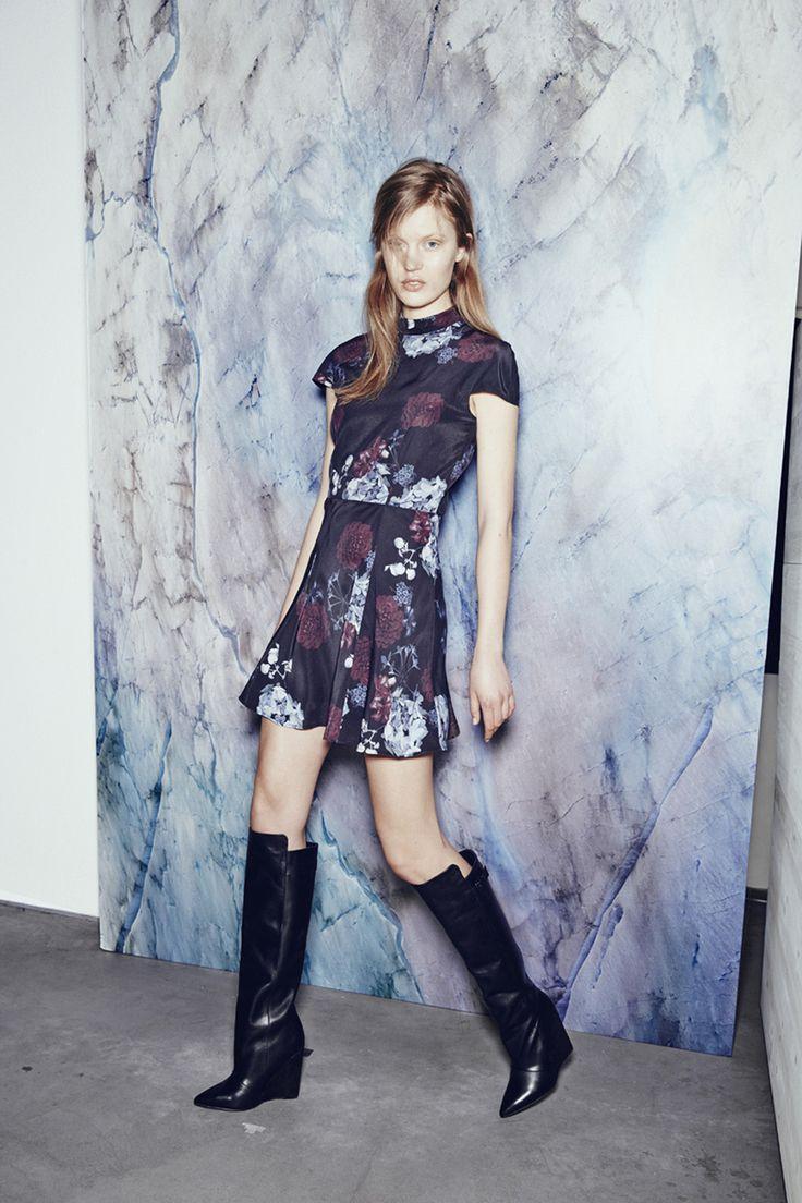 SWEET JANE SILK SATIN DRESS IN SCAN FLOWER http://fallwinterspringsummer.com