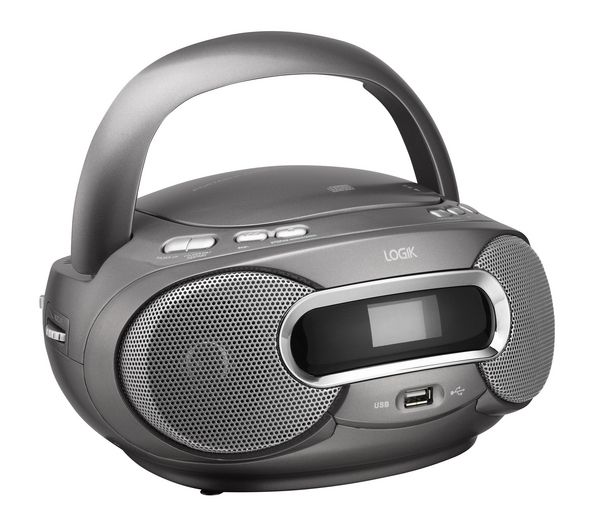 Buy LOGIK LCDBM12 Portable Stereo - Gun Metal | Free Delivery | Currys