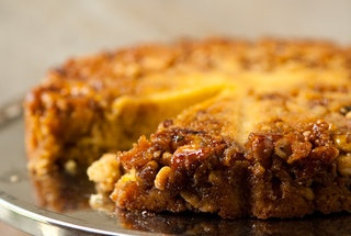 Bourbon Walnut Cornmeal Cake — Recipe from Eclectic Recipes