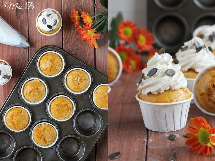 Kürbis-Käsekuchen-Muffins