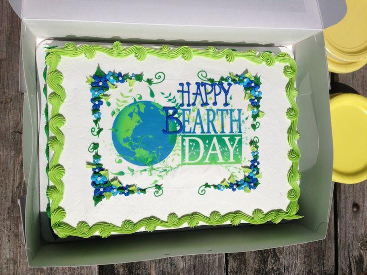 Jadens Earth Day Birthday Cake From Shaws