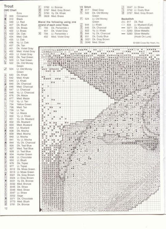 178 best b-vyšívání rybář, ryby, řeka images on Pinterest   Bordado ...