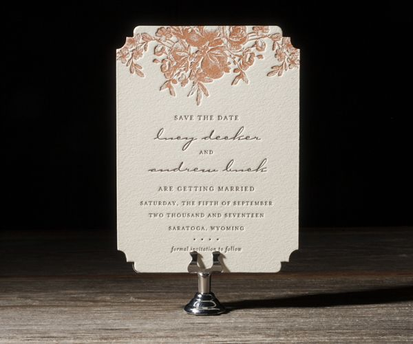 Letterpress Wedding Invitations | Faunus Design | Bella Figura Letterpress