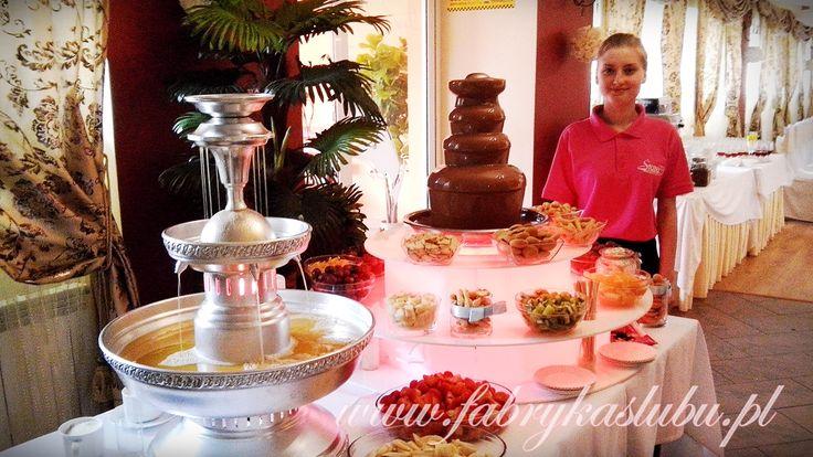 Fontanna czekoladowa - na weselu Przemyśl www.fabrykaslubu.pl