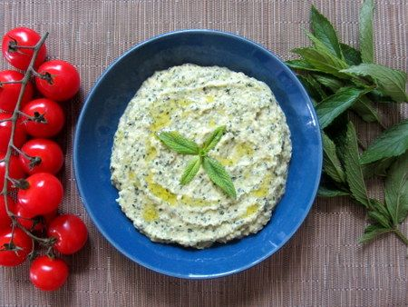 Zucchini , Yoghurt and Mint Dip. Light and refreshing for summer. Courgette, Yoghurt and Mint Dip